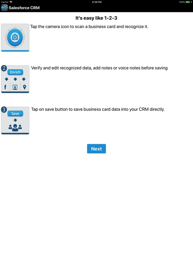 biz card reader for salesforce on the app store - Salesforce Business Card Scanner