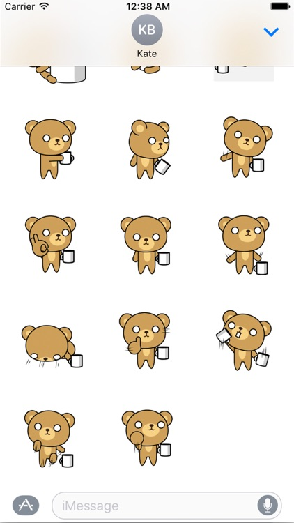 Posh bear Animated Stickers
