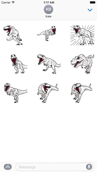 Animated T-rex Dinos Sticker screenshot 2