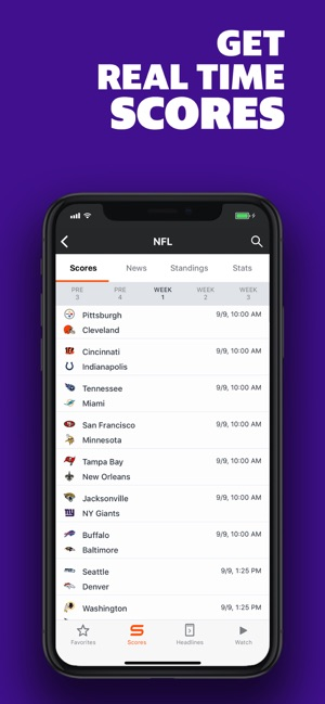 Yahoo Sports: Scores & News Screenshot