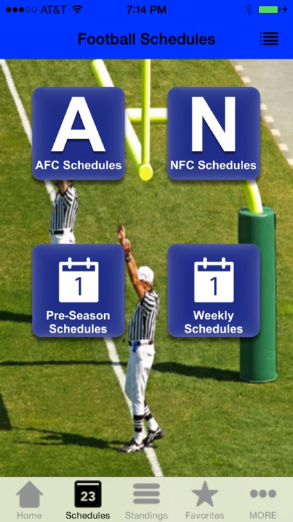 Football Scores & Schedules - NFL Edition