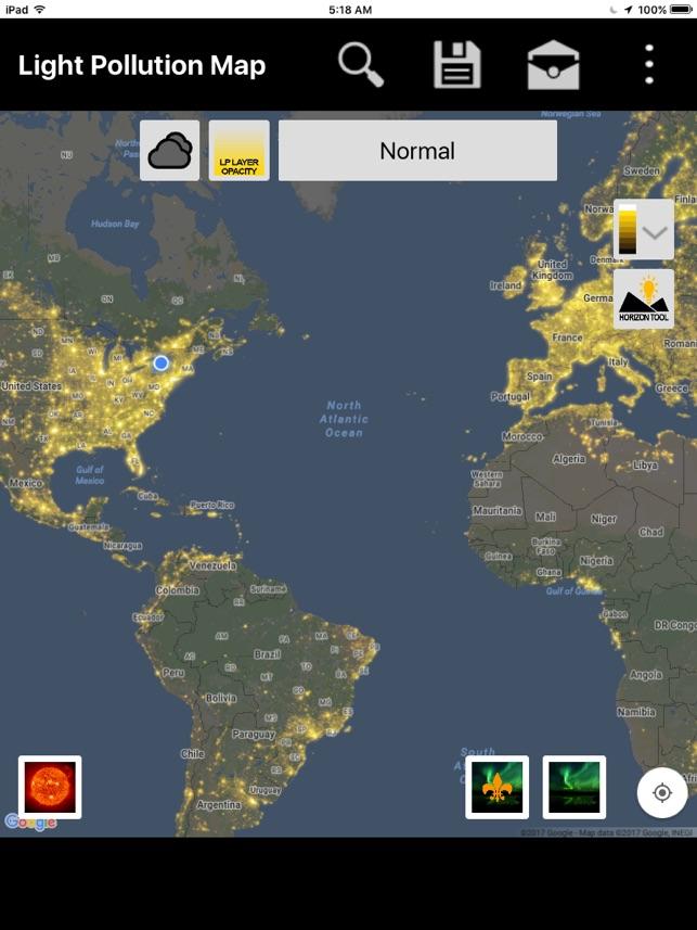 Light Pollution Map Dark Sky