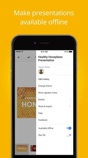presentaciones de google en app store