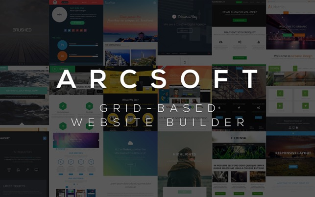 ARCSOFT™ – Website Builder Screenshot