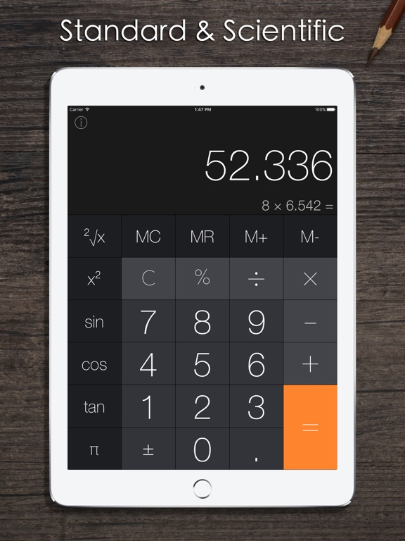 Screenshot #1 for Calculator Pro iRocks