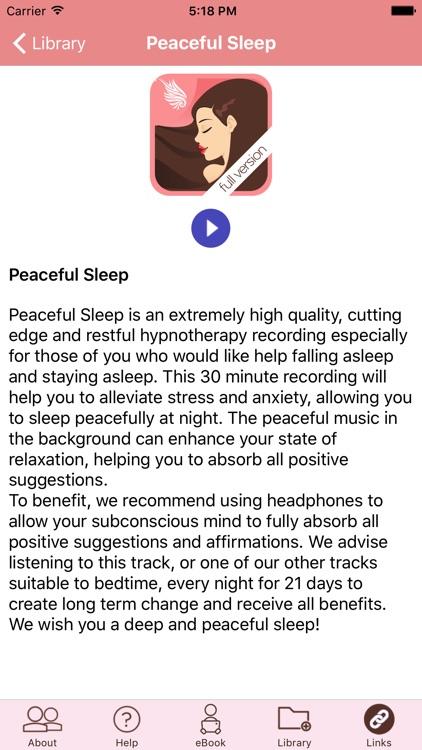 Peaceful Sleep Hypnosis Full Version screenshot-3