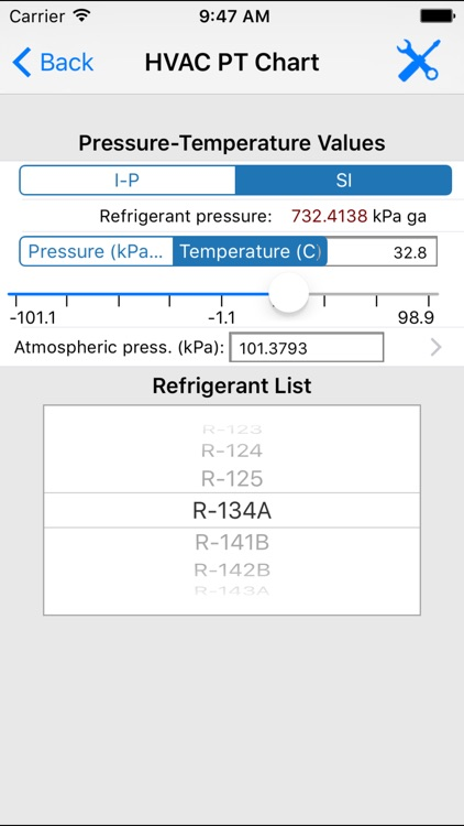 ASHRAE HVAC PT Chart screenshot-3