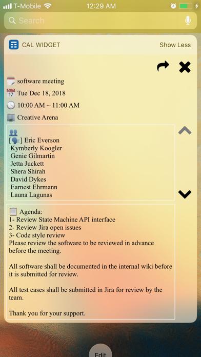 Screenshot #3 pour Week Calendar Widget Pro