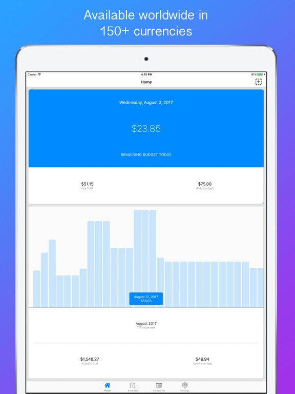 nomad budget travel budget trip expense tracker app price drops