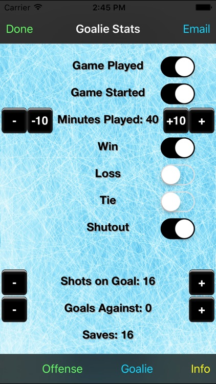 Hockey Stats Tracker Touch screenshot-3
