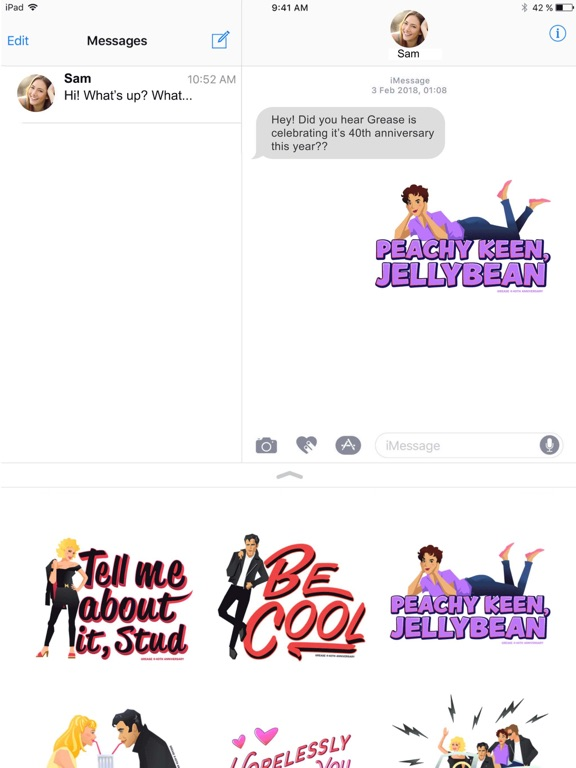 Official Grease Stickers screenshot #2