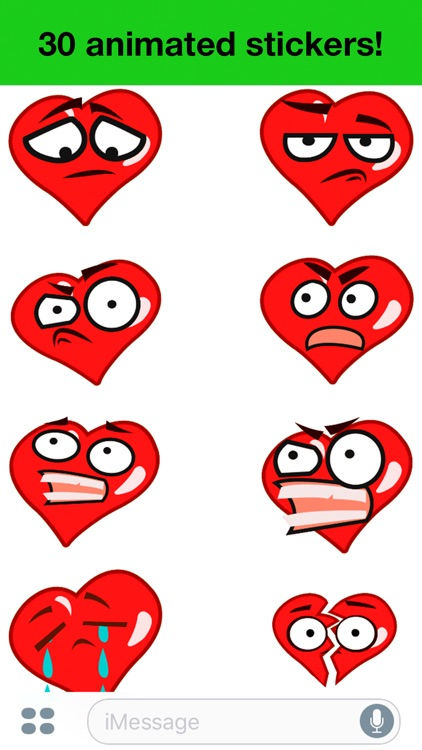 Heart - Animated cute stickers screenshot-3