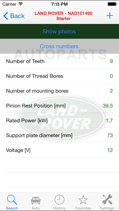 Screenshot for Autoparts for Land Rover in Czech Republic App Store