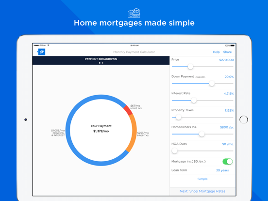 Zillow Mortgages - Calculator & Home Loan Rates screenshot