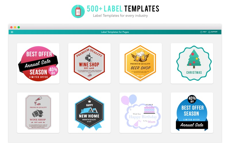Label Templates for Pages | App Price Drops