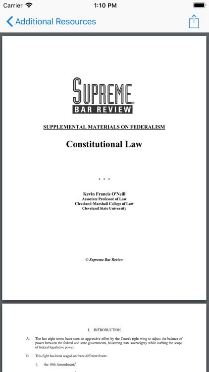 Constitutional Law Supreme Bar screenshot-8