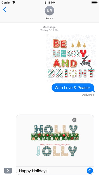 Christmas Lettering Stickers . screenshot 5
