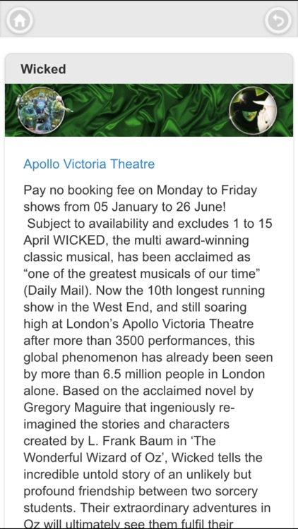 London West End Theatre Ticket screenshot-3