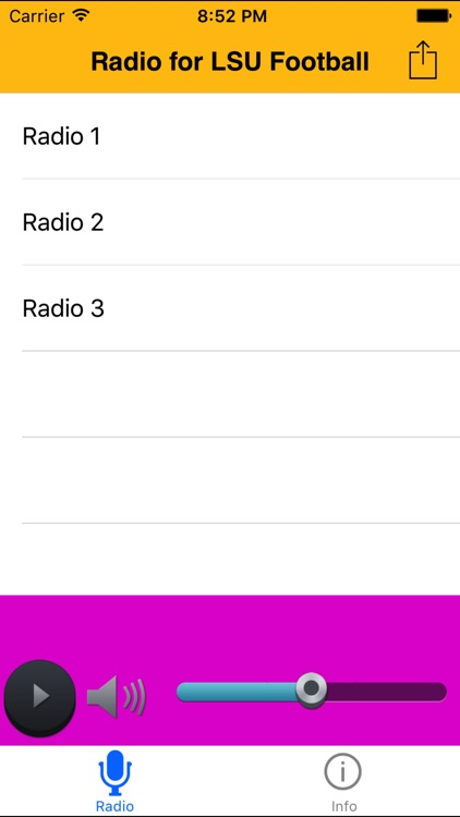 Radio for LSU Football