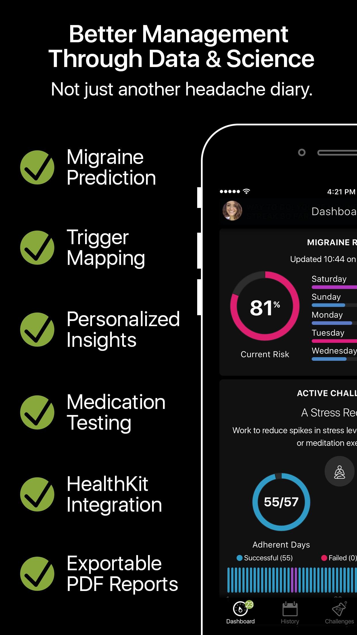 Migraine Coach - Smart Headache Coach and Diary Screenshot
