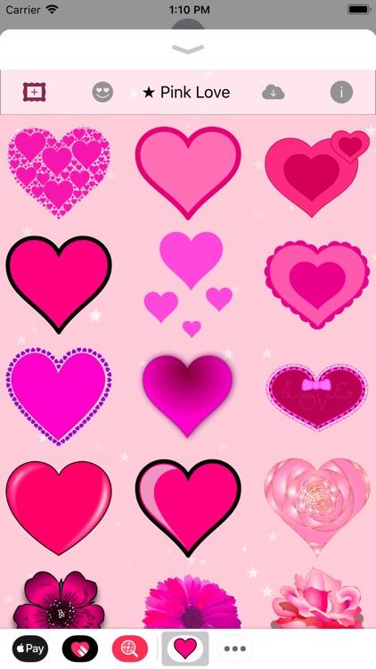 Pink Love • Emoji and stickers