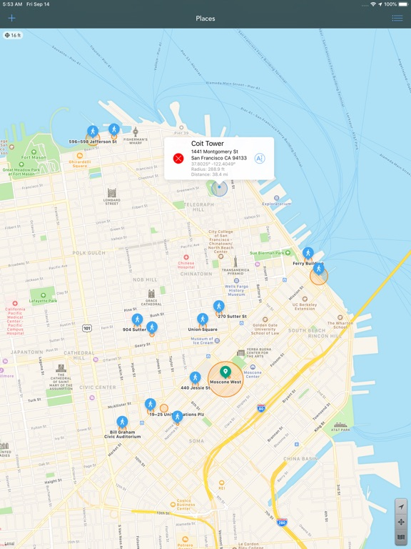 Screenshot #6 pour Geofency Time Tracking