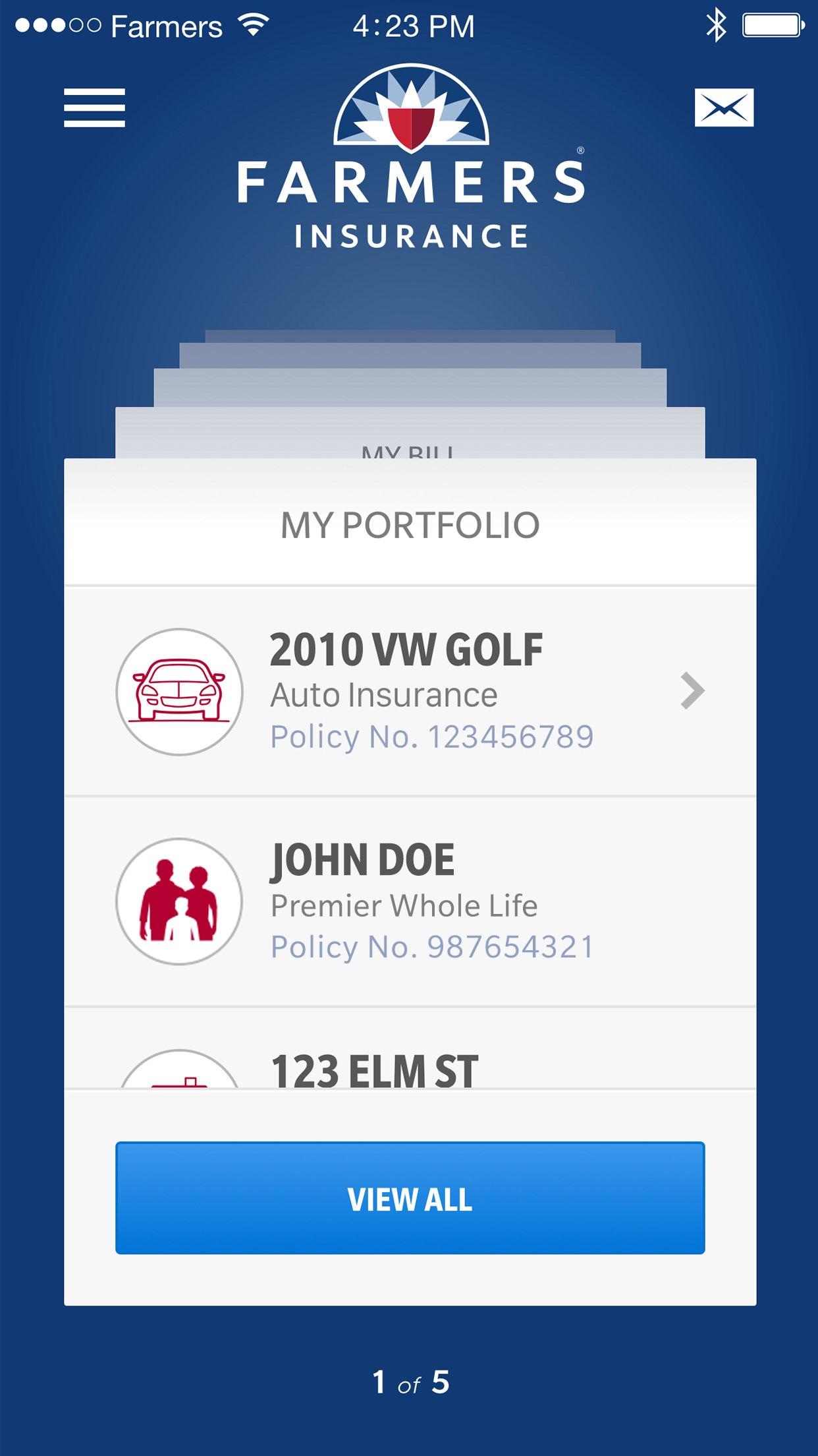 Farmers Insurance Inc. Screenshot