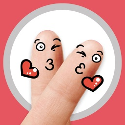 Finger Smiley Animated Sticker