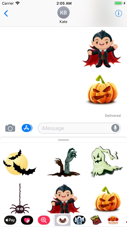 Happy Halloween Vampire Emojis