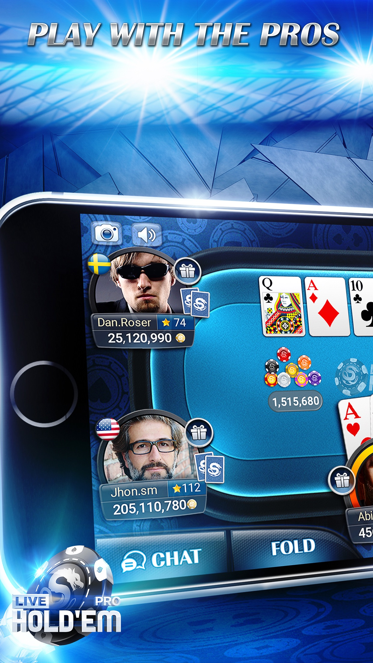 Live Hold'em Pro - Poker Game Screenshot