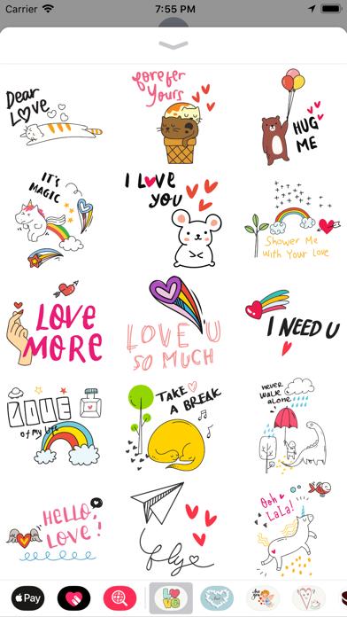 Doodle Valentine's Day Sticker screenshot 2