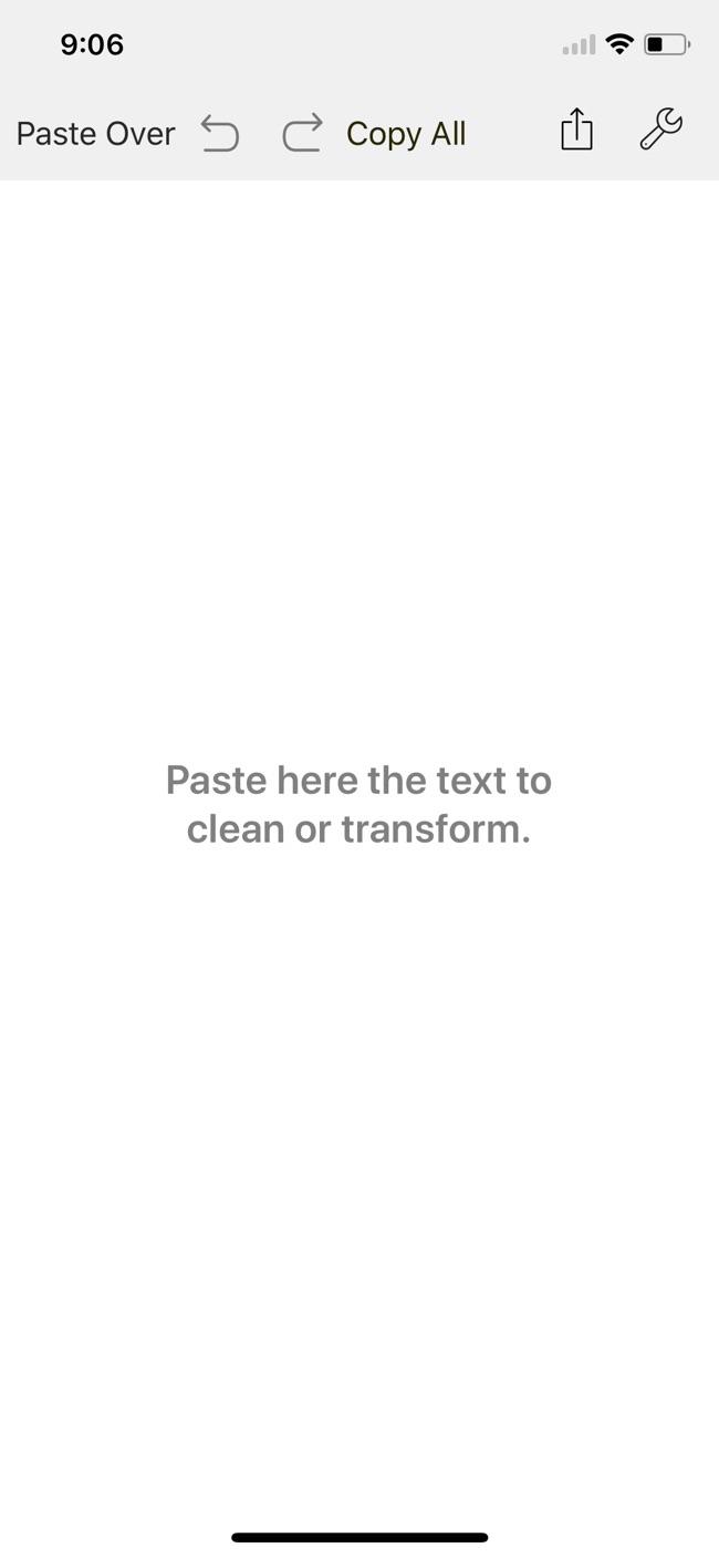 Clean Text Screenshot