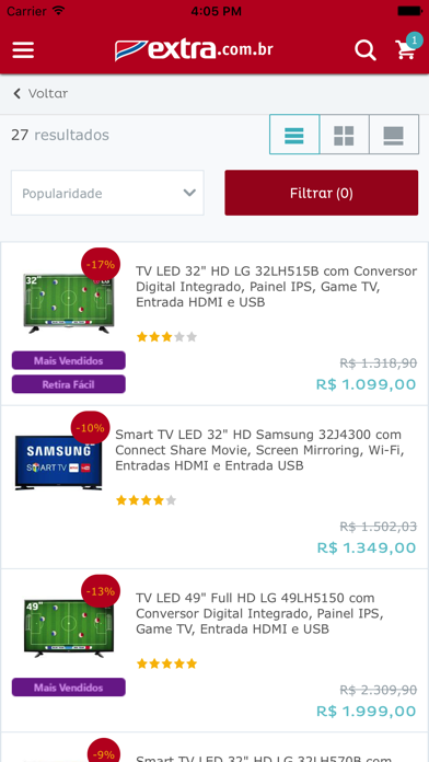 Foto do Extra.com.br