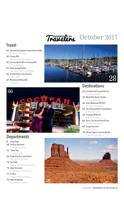 Snowbirds and RV Travelers Magazine