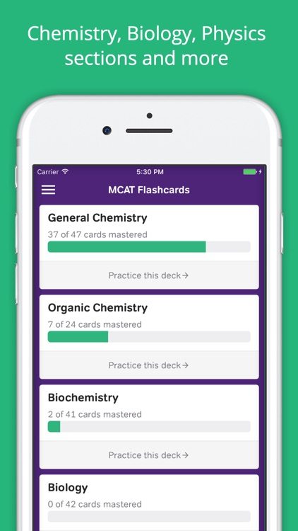 MCAT Prep: MCAT Flashcards
