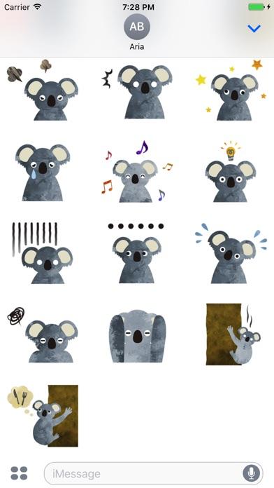 Adorable Koala Emoji Sticker screenshot 3