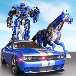 Police Robot Car - Horse games