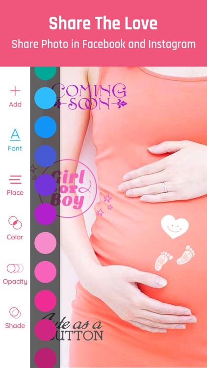 Baby Photo- Pregnancy Pics App screenshot-4