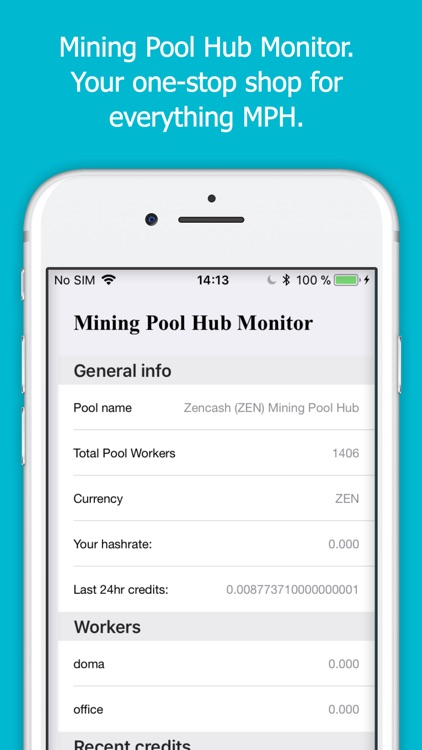 Mining Pool Hub Monitor screenshot-0