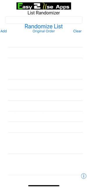 Randomizer list