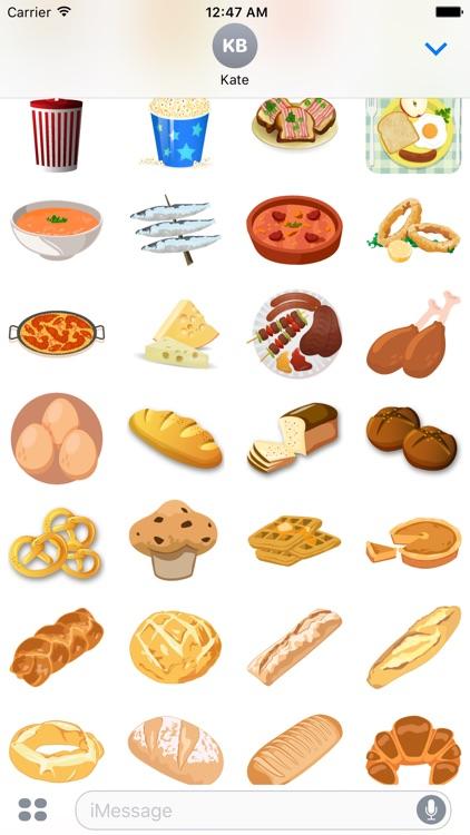 Yummy Food Stickers screenshot-3