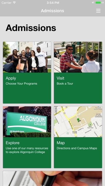 Algonquin College - Admissions