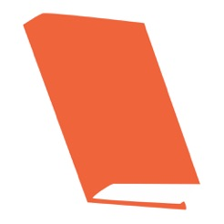 Via Itunes.com [Image description: EasyBib app logo, an orange book.]