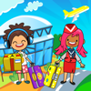 My Pretend Airport - Kids Travel Town Sensory Game