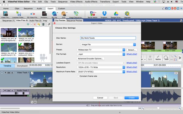 videopad video editor para mac