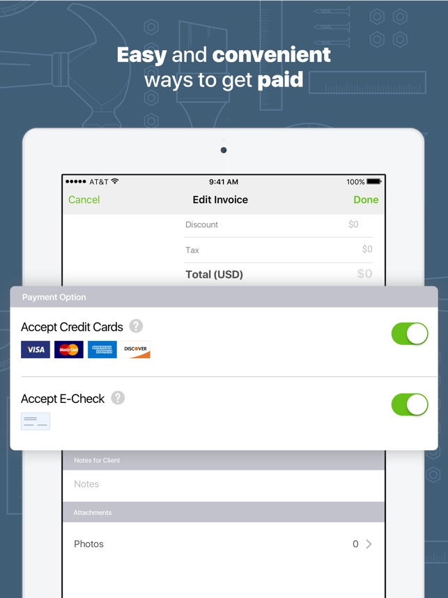 Joist App For Contractors On The App Store - Blank plumbing invoice free online store credit cards guaranteed approval