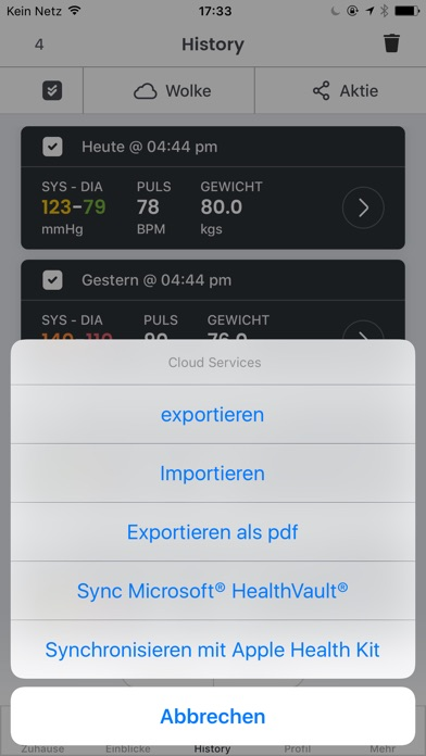 Screenshot for Blutdruck -  SmartBP in Germany App Store