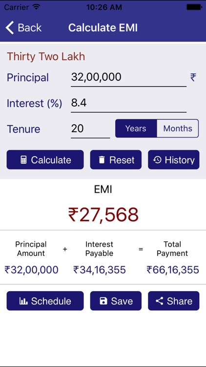 EMI Calculator for Loan