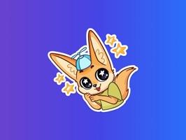 Cutie Fennec Stickers