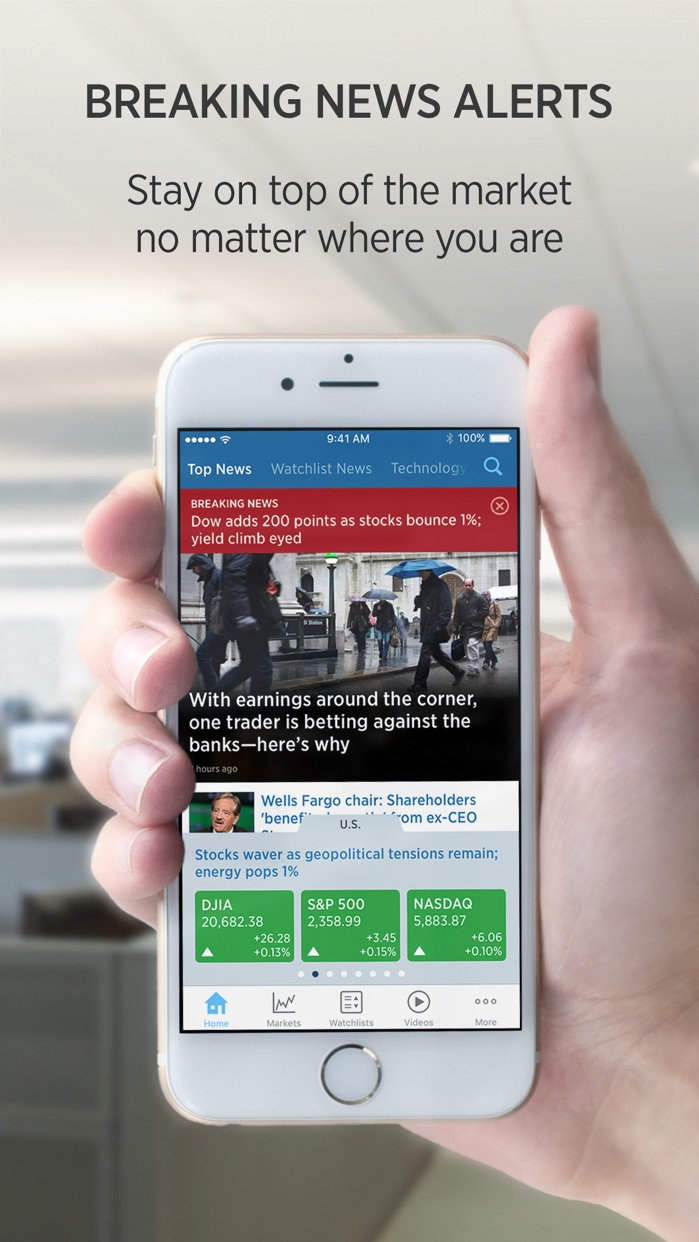 CNBC Business News and Finance Screenshot